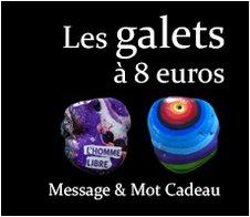 Les Galets à 8 euros : Message et mot cadeau symbolique original