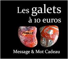 Les Galets à 10 euros : Message et mot cadeau symbolique original