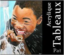 Collection Tableaux Patrick Moulin,  Portraits acryliques 2020
