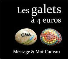 Les Galets à 4 euros : Message et mot cadeau symbolique original