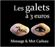 Les Galets à 3 euros : Message et mot cadeau symbolique original