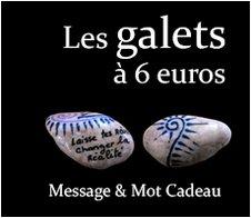 Les Galets à 6 euros : Message et mot cadeau symbolique original