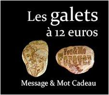 Les Galets à 12 euros : Message et mot cadeau symbolique original